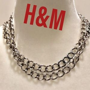 NWOT long silver chain necklace H&M